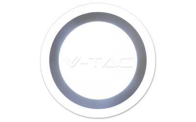 LED prisadený kruhový panel TWIN LED 12+3 W denná biela