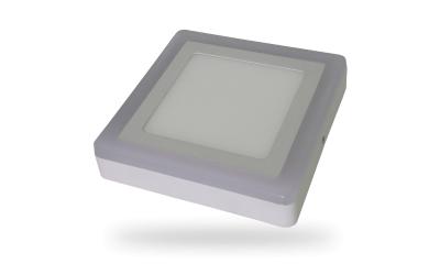LED prisadený panel TWIN LED štvorec 6+2 W denná biela