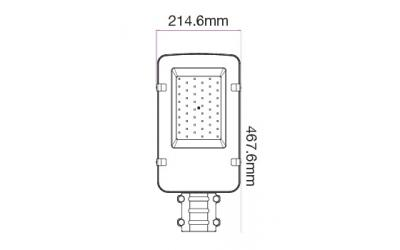 LED pouličné svetlo 50 W denná biela 5-ročná záruka