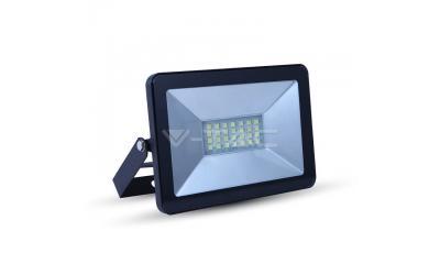 LED reflektor 10 W I-SERIES studená biela čierny