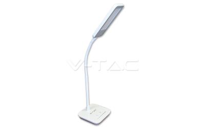 LED stolná lampa 7W šedá, denná biela stmievateľná