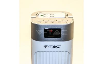 Ventilátor stojanový 90 cm 55 W s diaľkovým ovládaním biely