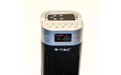 Ventilátor stojanový 120 cm 55 W s diaľkovým ovládaním čierny