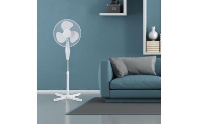 Stojanový ventilátor 40 W biely