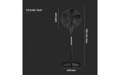 Stojanový ventilátor 55 W čierny
