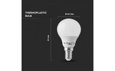 LED žiarovka E14 7 W denná biela 5 rokov záruka P45 plast