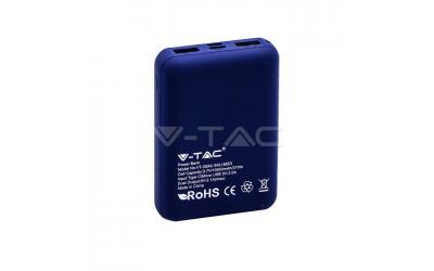 Powerbanka 10000 mAh tmavo-modrá s displejom
