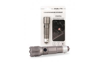 Ručná LED baterka 4 W nabíjateľná s auto nabíjačkou