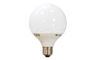 LED žiarovka E27 guľa G95 10 W teplá biela