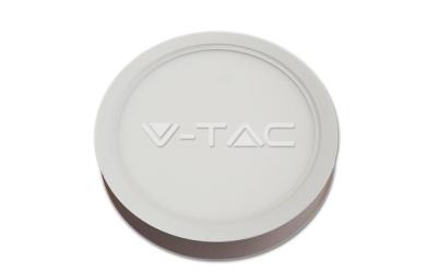 LED panel prisadený kruhový 22 W denná biela biely hliník