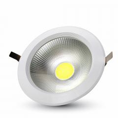 LED downlight kruh 30 W studená biela A++ vysokosvietivé