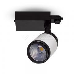 LED lištové svietidlo bielo-čierne 35 W studená biela 24°