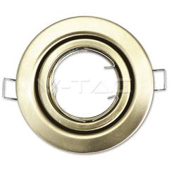 Rámik na GU10/GU5.3 kruhový pohyblivý satin nikel