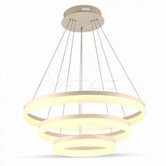 LED luster závesný 80 W 3-kruhový stmievateľný teplá biela