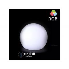 Nabíjateľné záhradné dekoratívne svietidlo guľa RGB priemer 40 cm IP65