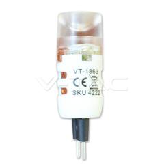 LED bodová žiarovka G4 1,2 W, studená biela 12 V