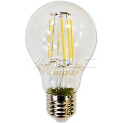 Retro LED žiarovka E27 6W, SMD, teplá biela, 300°, sklená