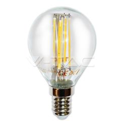 LED žiarovka filament E14 hruška 4W teplá biela sklená