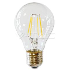 LED žiarovka filament 4 W E27 teplá biela stmievateľná číra