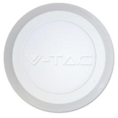 LED prisadený panel kruhový TWIN LED 6+2 W denná biela