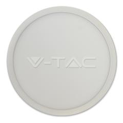 LED panel prisadený 12 W SLIM denná biela kruhový biely