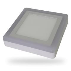 LED prisadený štvorcový panel TWIN LED 12+3 W denná biela