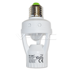 Pohybový senzor do E27 pätice na E27 žiarovku