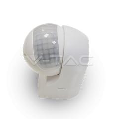IR pohybový senzor biely s otočnou hlavou nástenný