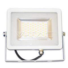LED reflektor SMD SLIM 30 W, denná biela, biely