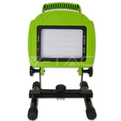 LED prenosný reflektor 20 W denná biela nabíjateľný