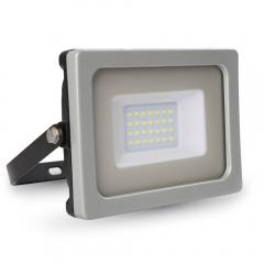 LED reflektor SMD SLIM 20 W, teplá biela, šedo-čierny