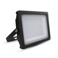 LED reflektor SLIM SMD 100 W studená biela čierny
