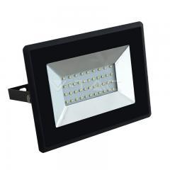 LED reflektor 30 W studená biela čierny