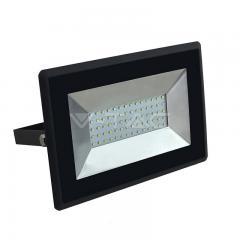 LED reflektor 50 W studená biela čierny