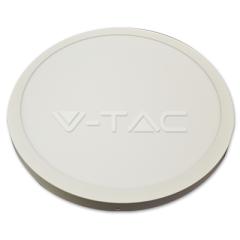 LED panel prisadený kruhový 36 W, studená biela, biele telo