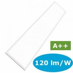 LED panel 120x30 cm s výkonom 29 W denná biela 120 lm/W
