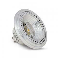Stmievateľná AR111 bodová LED žiarovka GU10 12 W studená biela 40° hliníková