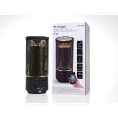 Bluetooth prenosný reproduktor FLAME čierny 2 x 3 W