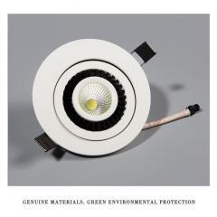 CALE LED downlight s otočným telom 12 W denná biela biele telo