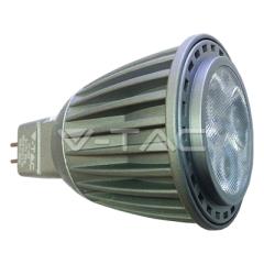 Bodová LED žiarovka MR16 7W HI-POWER LED  denná biela 38° šedá