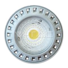 Bodová LED žiarovka GU10 6W studená biela 110° COB
