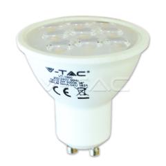 Bodová LED žiarovka GU10 3W studená biela 38° ozdobný difúzor