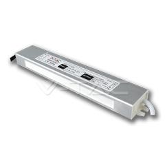 Kovový napájací adaptér pre LED pásiky IP65  - 45 W,