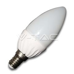 LED žiarovka E14 sviečka 4 W studená biela plast
