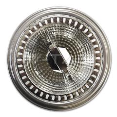 AR111 bodová LED žiarovka GU10 12 W teplá biela 40° hliníková