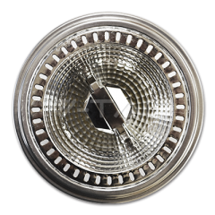 AR111 bodová LED žiarovka GU10 12 W studená biela 40° hliníková