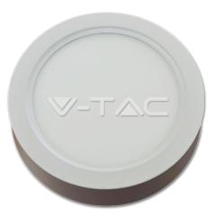 LED panel prisadený kruhový 15 W denná biela biely hliník