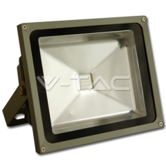 LED reflektor 20 W, studená biela, šedý