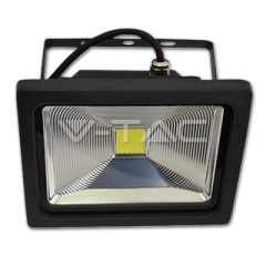 LED reflektor PREMIUM 30 W, teplá biela, čierny