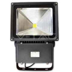 LED reflektor PREMIUM 100 W, studená biela, čierny